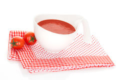 Delicious tomato soup. Royalty Free Stock Image