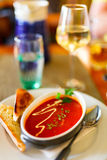 Delicious tomato soup Stock Photography