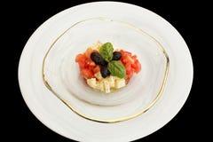 Delicious tomatoes, mozzarella tartar Royalty Free Stock Photo