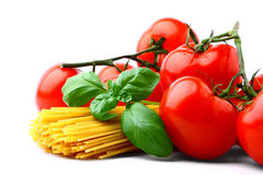 Delicious tomatoes with pasta Stock Image
