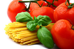 Delicious tomatoes with pasta Stock Photos