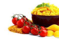 Delicious tomatoes with pasta Royalty Free Stock Photos