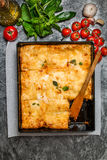 Delicious traditional italian lasagna Royalty Free Stock Image