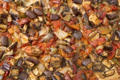 Coca of traditional aubergine Mallorcan food. Delicious and traditional Mallorcan food Stock Photos