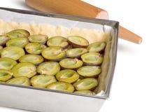 Delicious traditional plum cake Stock Photos