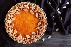 Delicious traditional thanksgiving pumpkin tart Royalty Free Stock Photos