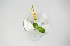 Delicious transparent cocktail. In studio Stock Photography