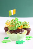 St Patrick's day cupcakes Royalty Free Stock Image
