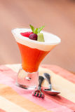 Delicious Tropical Dessert - Mango Mousse Royalty Free Stock Photography
