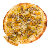 Delicious tropical fruit pizza, vegetarian pizza Stock Photography