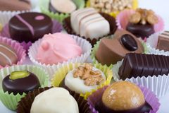 Delicious Truffles on white ba Stock Photography