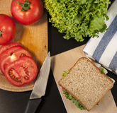 A delicious turkey sandwich Royalty Free Stock Photography