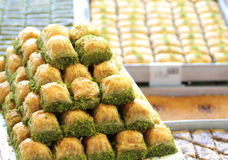 Delicious Turkish baklava Royalty Free Stock Photography