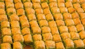Delicious Turkish baklava Stock Photos