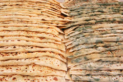 Delicious turkish bread ,gozleme Royalty Free Stock Photos