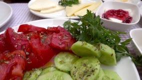 Delicious Turkish Breakfast Concept stock video footage