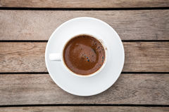 Delicious Turkish Coffee served  in traditional cup Stock Images