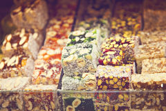 Delicious turkish delight Stock Photo