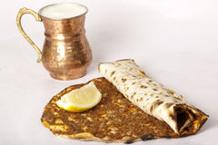 Delicious Turkish pizza lahmacun Stock Photography