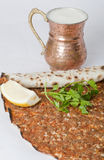 Delicious Turkish pizza lahmacun Royalty Free Stock Photography