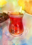 Delicious Turkish tea Royalty Free Stock Photo