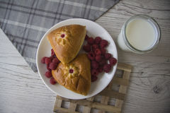 Delicious turnovers with berries Stock Photography