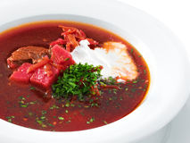 Delicious ukrainian borscht Royalty Free Stock Photos