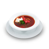 Delicious ukrainian borscht Royalty Free Stock Image