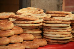 Delicious Uyghur bread 'Nang' Royalty Free Stock Images