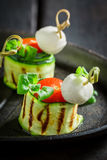 Delicious various finger food made of fresh ingredients for party Royalty Free Stock Images
