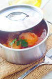 Delicious veal stew soup Stock Image