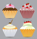 Delicious Vector Cupcakes Royalty Free Stock Image