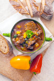 Delicious vegetable and meat stew Stock Photo