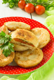Delicious vegetable pies with tomatoes and cheese Stock Image