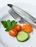Delicious vegetable plate Royalty Free Stock Images