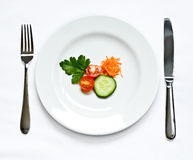Delicious vegetable plate Stock Photos