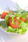 Delicious vegetable salad. Close up Stock Photography