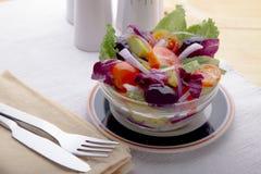 Delicious vegetable salad stock photos