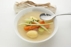Delicious vegetable soup Stock Images