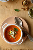 Delicious vegetable soup with pumpkin Stock Images