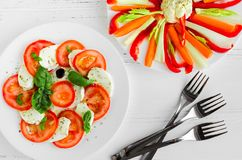 Delicious vegetarian antipasti stock image