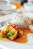 Delicious Vegetarian Cuisine. Close up of delicious vegetarian cuisine royalty free stock photo