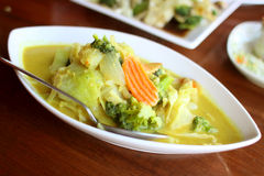 Delicious vegetarian dish with yellow curry Royalty Free Stock Image