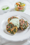 Delicious veggie burger patty with chard Royalty Free Stock Photography