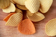 Delicious veggie chips,the better choice Stock Photos