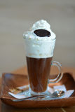 Delicious Viennese Coffee With Whipped Cream Stock Photo