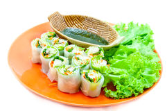 Delicious vietnamese spring roll Stock Images