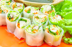 Delicious vietnamese spring roll Royalty Free Stock Images