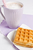 Delicious waffle Royalty Free Stock Photos