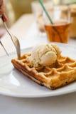 Delicious waffle Stock Photo